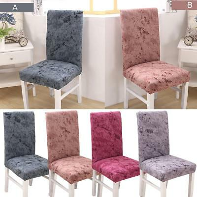 Short Stretch Removable Kitchen Bar Dining Room Chair Protector Cover Slipcover