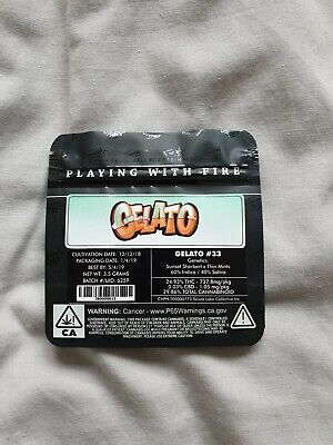 10x Jungle Boys Gelato Mylar Bag (3.5g) Cali Tin