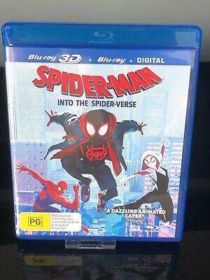 Spider-Man into The Spider-Verse 3D Blu Ray