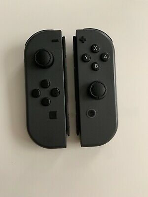 100% TESTED OEM Original Nintendo Switch Joy Con Controller Set Gray Joy Cons