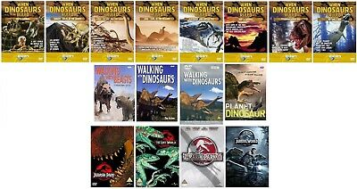 Walking Dinosaurs When Dinosaurs Ruled Jurassic Park 1 - 4 = 14 DVDSET + 3 HB