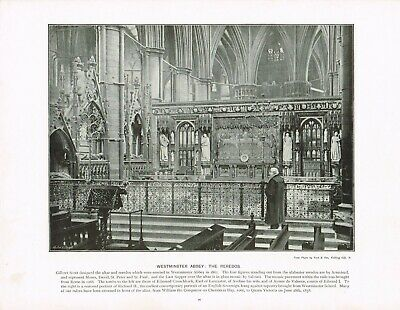 Westminster Abbey The Reredos London Antique Old Picture Print c1896 TQL#76