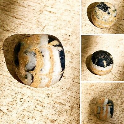 Ancient Phoenician 200-100 BC Mosaic bead multi  color Very rare intact,val$440