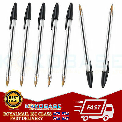 Visible Ballpoint Pen Niceday Black Medium Pack of 1x 10x 25x 50x Gift Office