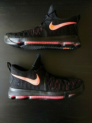 new concept 74d87 2c7b2 NIKE ZOOM KD 9 PRM AUNT PEARL - Black Hot Punch Size 8 881796-060
