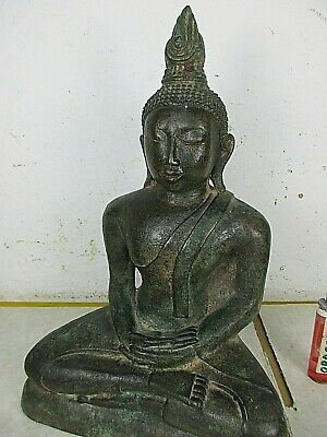 Sehr alter Bronze Buddha tolle Patina ! ORIGINAL ! NO COPY ! Laos vor 1950 28cm