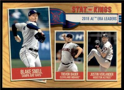 2019 Topps Big League Gold Stat Kings #363 Verlander Bauer Snell