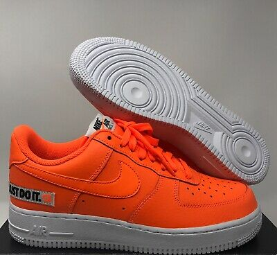 reputable site 9817a 377e6 Nike Air Force 1 07 Lv8 Jdi Leather Just Do It Total Orange Sz 15