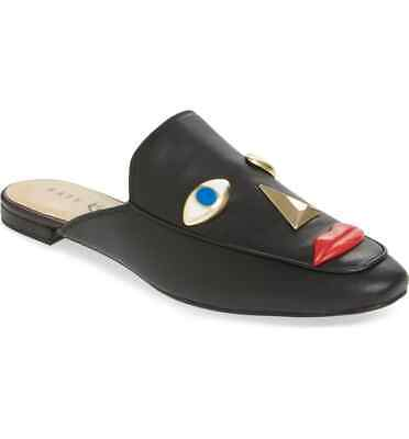 Women's Shoes Flats Katy Perry The Rue-nappa Black Shoes Mules Size 6.5 Nwb