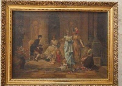 Oil painting Oil on canvas. Original work and signed and dated 1919