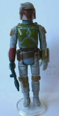 Vintage Star Wars Boba Feet, complete, orig. Kenner, Made in HK difer color arms