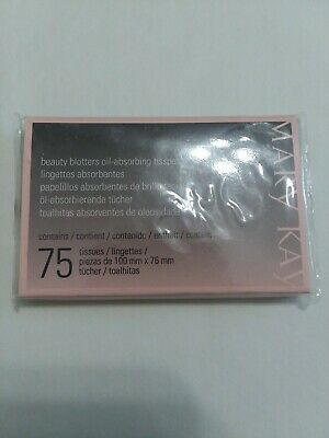 Mary Kay Beauty Blotters Oil-Absorbing Tissues 75 Tissues NEW! GREAT PRICE