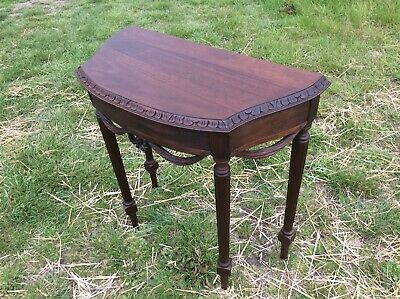 Antique Demi Lune-console Table