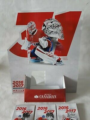 Montreal Canadiens 2016 / 2017, 24 pocket schedule with store counter display