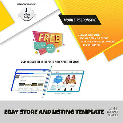 eBay Template Responsive Listing Professional Auction Html Mobile 2019 Design