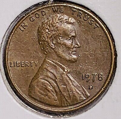 1978 D Lincoln Memorial Cent  Error Filled D (106)