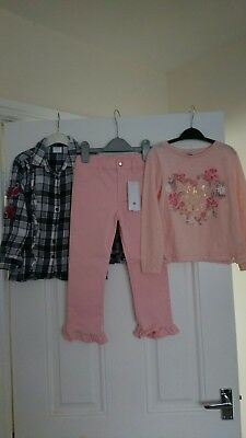 Girls outfit Top,Shirt And BNWT Trousers Primark,F&F 5-6 Years
