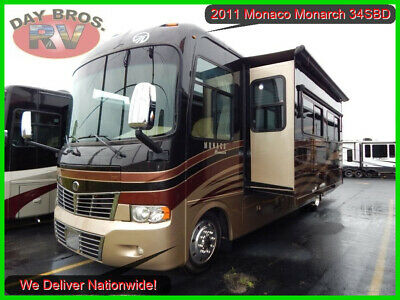 2011 Monaco Monarch 34SBD Class A Motorhome Camper RV Bunkhouse Coach Gas Ford