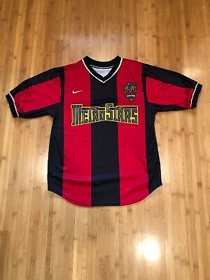 bba1153bbfc Vintage & Authentic NIKE New York Metrostars MLS Soccer Jersey - Mens Small