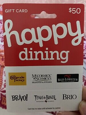 Cheese Cake Factory, Red Lobster 50 Dollar Gift Card