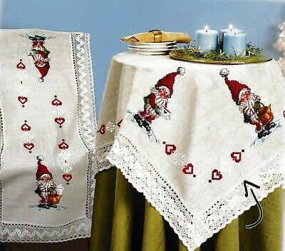 """""""Loving Gnome"""" Tablecloth Kit for Embroidery Duftin 8027"""