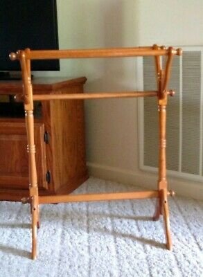 Jan Import Co. Wooden Quilt/Blanket Rack