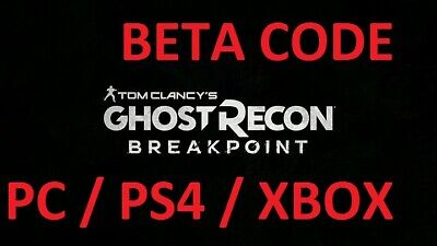 TOM CLANCY'S GHOST RECON BREAKPOINT  Xbox/PS4/PC DLC+ BETA CODE GLOBAL