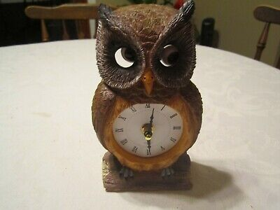 Owl Clock With Moving Eyes - Analog - Battery Operated