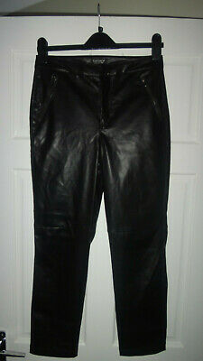 9601e8470b631a NEW LOOK WOMENS High Waisted Faux Leather Skinny Slim Trousers Black ...