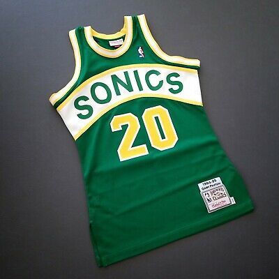 new product 4fbef 1deb4 100% AUTHENTIC GARY Payton Mitchell & Ness 94 95 Sonics ...