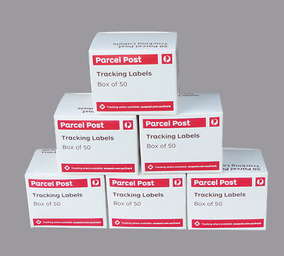 300 ( 6 Boxes) AUSTRALIA POST TRACKING LABELS For Domestic Parcels