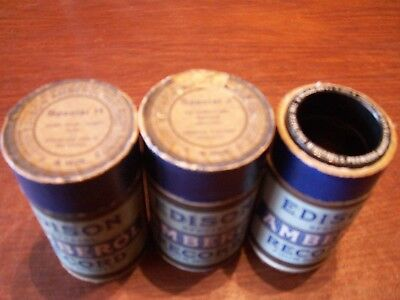 """Edison Amberol Cylinder Records Special """"H"""", """"J"""" & """"K"""" w/ boxes"""