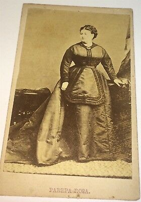 Rare Antique Victorian Famous Occupational Singer NY Advertising CDV Photo! US!