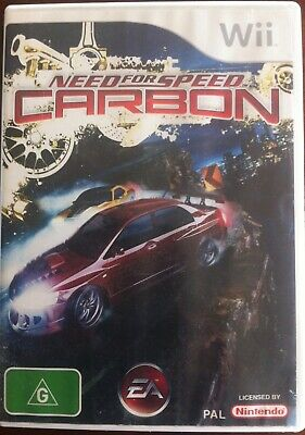 Nintendo Wii NEED For SPEED CARBON  game