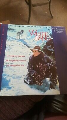 White Fang 1990 Laser Disc LIKE NEW Ethan Hawke  by Jack London