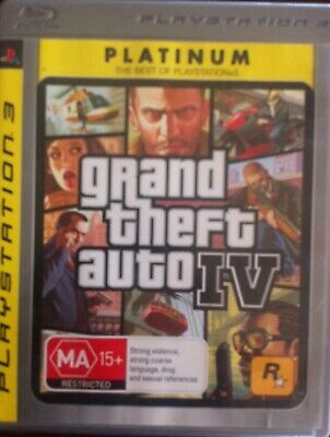PS3 GRAND AUTO THEFT IV game