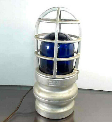 Vintage Industrial Crouse Hinds Explosion Proof Cage Light Fixture