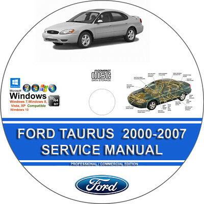 FORD TAURUS 2000 2001 2002 2003 2004 2005 2006 2007 Service Repair Manual On CD