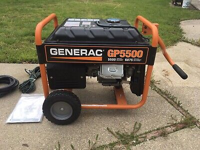NEW ! GENERAC GP Series 5500 Portable Gas Generator Generac GP5500