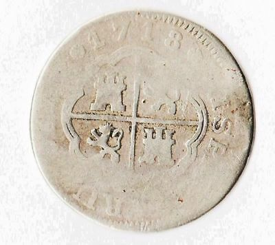 "1718 Contemporary Pistareen ""Yunnan"" Paktong Alloy High Iron Pre-German Silver"