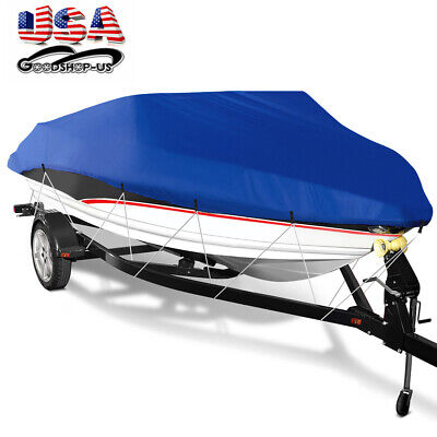 14/'17/'24/' ft Trailerable Fishing Ski Bass Boat Cover Waterproof 95/'/' Beam LOT J