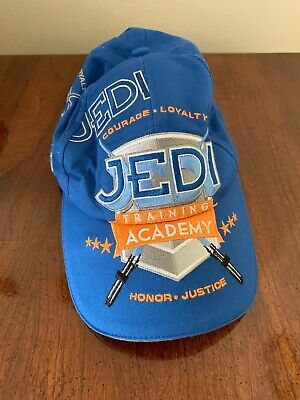 huge discount 359cf 0125f Star Wars Youth Jedi Training Academy Cap Hat Nwot New Adjustable Cotton  Blue