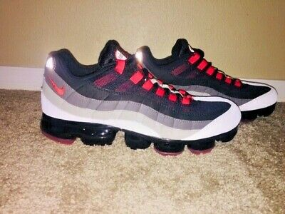 quality design a0ad5 89535 New Mens Nike Air Vapormax 95 Shoes Sz 10.5 WHITE HOT RED DK PEWTER