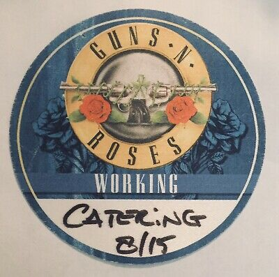 GUNS N ROSES Logo Working Crew Backstage Pass GNR AXL Slash Duff