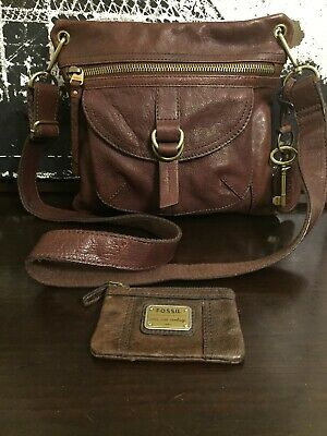 Authentic Fossil Crossbody With Fossil Card/Coin Holder