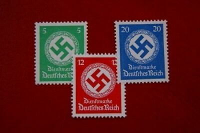 Germany RARE NAZI WWII WW2 OFFICE SWASTIKA STAMPS Offices Courts Postage RGB MNH