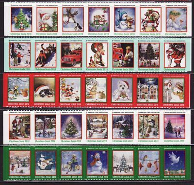 2018 U.S. Christmas Seal Collection, Test Designs As Required