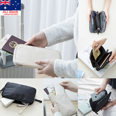 AU Travel Wallet Passport Holder Credit Card Case Document Ticket Organizer Bag