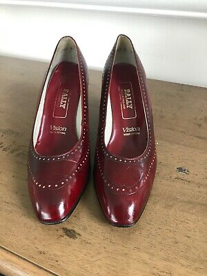 Vintage 1980s  Bally Red Court Shoes, Size 5,