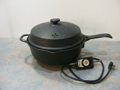 """Vintage Cast Iron """"Breville Country Kitchen"""" Electric Frypan"""